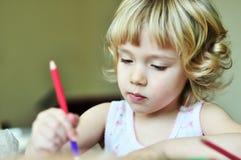 Little artist girl stock image