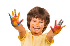 Little artist. Stock Images