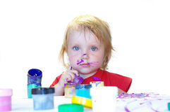 Little artist isolated Royalty Free Stock Images