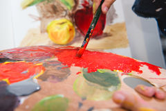 Little artist painting Royalty Free Stock Photography