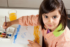 Little artist painting Royalty Free Stock Photo