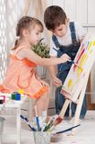Little artists royalty free stock photography
