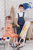 Little artists Stock Photos