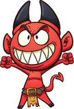 Little artoon  devil. Little cartoon devil. Vector clip art illustration with simple gradients. All in a single layer Royalty Free Stock Photos