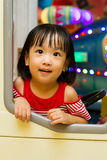 Little Asain Chinese Bus Driver Stock Photography