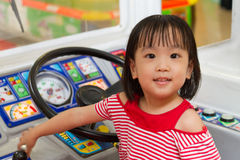 Little Asain Chinese Bus Driver Stock Images