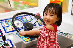 Little Asain Chinese Bus Driver Royalty Free Stock Photos