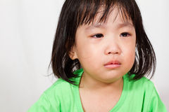 Little Asain Chinese Crying Stock Photography