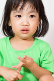 Little Asain Chinese Crying Stock Image