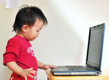 A little asia girl Stock Images