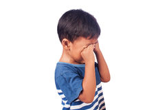 A little asian  boy cry Stock Photo