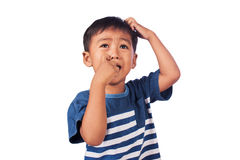 A little asian boy  cry Royalty Free Stock Image