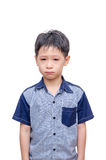 Little Asian boy crying. Over white background Royalty Free Stock Images
