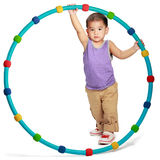 Little asian boy with hula hoop Stock Image