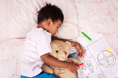 A little asian boy sleep Royalty Free Stock Images