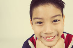 Little asian boy with smile face Stock Photography