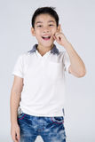 Little asian boy with surprise face Royalty Free Stock Photography