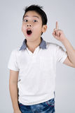 Little asian boy with surprise face Stock Photo
