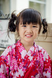 Little asian child in japanese traditional costume Stock Image