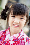 Little asian child in japanese traditional costume Stock Photos