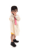 Little asian child pretending to be  businessman Royalty Free Stock Images