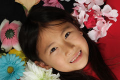 Little asian girl 1 Stock Photos