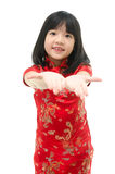 Little asian girl begging Royalty Free Stock Photo