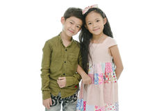 Little asian girl and boy Royalty Free Stock Photography