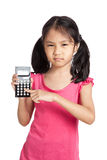 Little asian girl  with a calculator Stock Photography
