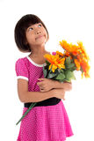 Little asian girl Flower Royalty Free Stock Photos