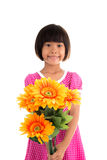 Little asian girl Flower Stock Photography