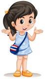 Little asian girl with handbag Stock Images