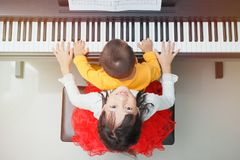 Little Pianist stock photos