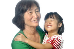 Little asian girl with her grandmother Royalty Free Stock Image