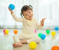 Little asian girl in home Royalty Free Stock Images
