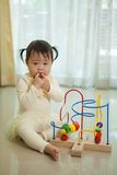Little asian girl in home Stock Photo