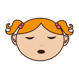 Little asian girl icon. Vector illustration design Royalty Free Stock Images