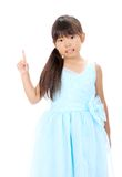 Little asian girl pointing Royalty Free Stock Photography