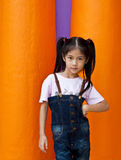 Little asian girl posing. Royalty Free Stock Photography