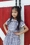 Little asian girl posing. Royalty Free Stock Photo