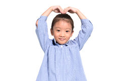 Little asian girl posing lovely and happy with isolate background Royalty Free Stock Image