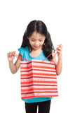 Little asian girl with shopping bag Stock Photography
