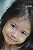 Little Asian girl smile. Royalty Free Stock Image
