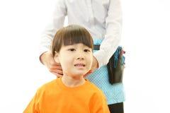 Little Asian girl smiling Stock Photos