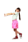 Little asian girl standing Stock Photography