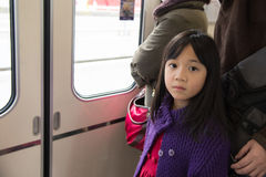 Little asian girl travels Stock Photography