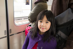 Little asian girl travels Stock Images