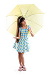 Little asian girl with umbrella Stock Photo