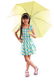 Little asian girl with umbrella Royalty Free Stock Images