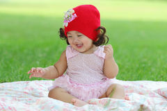 Little asian girl Stock Photography
